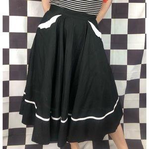 Hellbunny bat pocket circle skirt